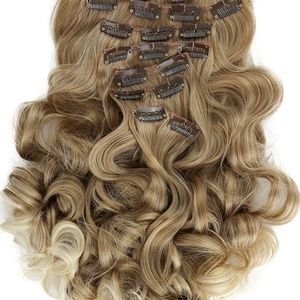 Ombre Blonde Wavy Full Head Clip in Extension